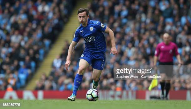 Leicester City's Ben Chilwell during the Premier League match between Manchester City and Leicester City at Etihad Stadium on May 13 2017 in...