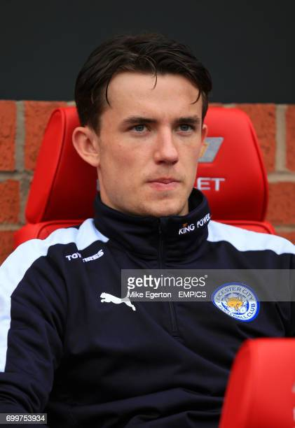 Leicester City's Ben Chilwell on the bench