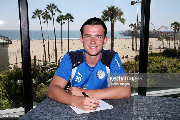 Leicester City's Ben Chilwell signs a new contract until 2021 during the Leicester City PreSeason US Tour on July 28 2016 in Los Angeles California