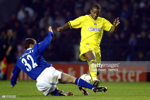 Leicester City's Billy McKinlay and Charlton Athletic's Kevin Lisbie