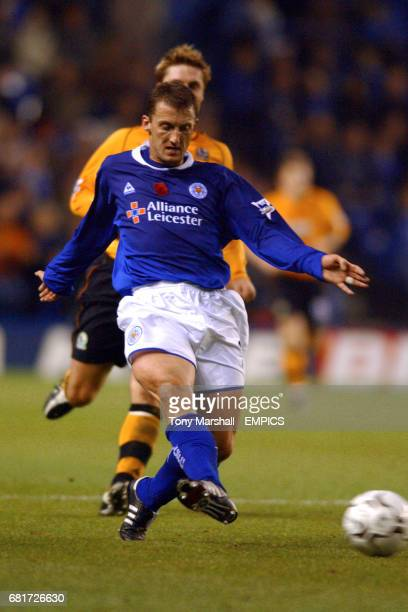Leicester City's Billy McKinlay plays a pass down the channel