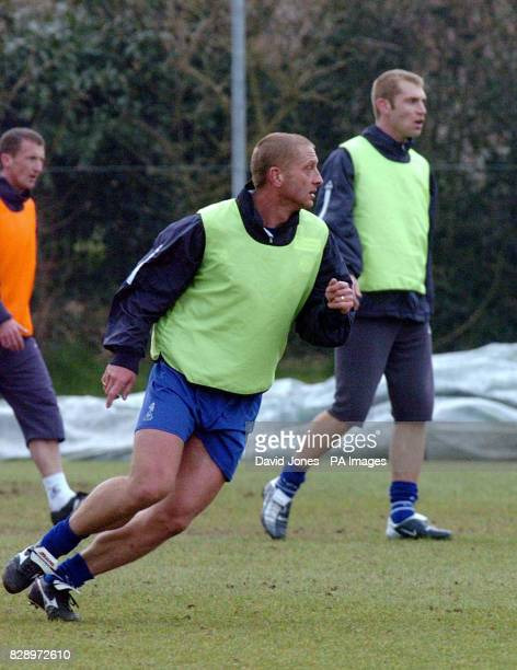 Leicester City's captain Matt Elliott and James Scowcroft during training for this weekend's away match at Birmingham THIS PICTURE CAN ONLY BE USED...