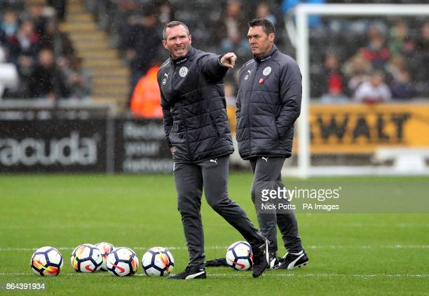 Leicester City's caretaker manager Michael Appleton during the Premier League match at the Liberty Stadium Swansea