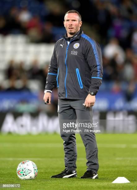 Leicester City's caretaker manager Michael Appleton