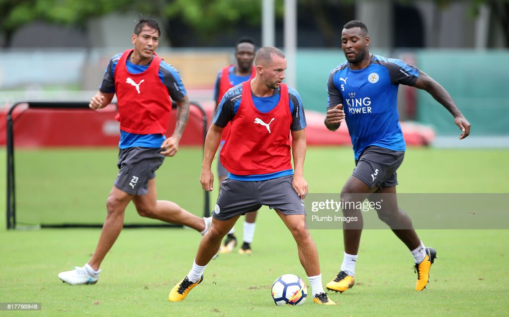 Leicester City's Danny Drinkwater trains in the Hong Kong heat ahead of the Premier League Asia Trophy on July 18th , 2017 in Hong Kong, Hong Kong.