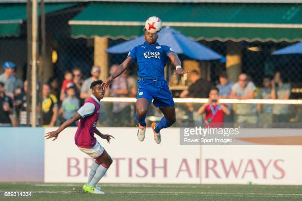 Leicester City's Darnell Johnson competes with Aston Villa's Alex Prosser for a ball during their Main Tournament Cup Final match part of the HKFC...