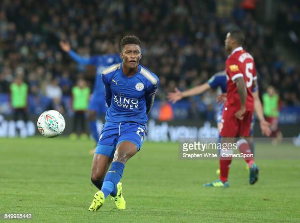 Leicester City's Demarai Gray during the Carabao Cup Third Round match between Leicester City and Liverpool at The King Power Stadium on September 19...