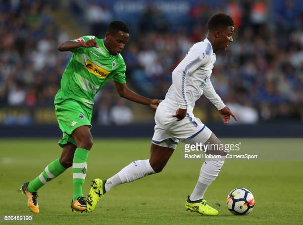 Leicester City's Demarai Gray during the preseason friendly match between Leicester City and Borussia Moenchengladbach at The King Power Stadium on...