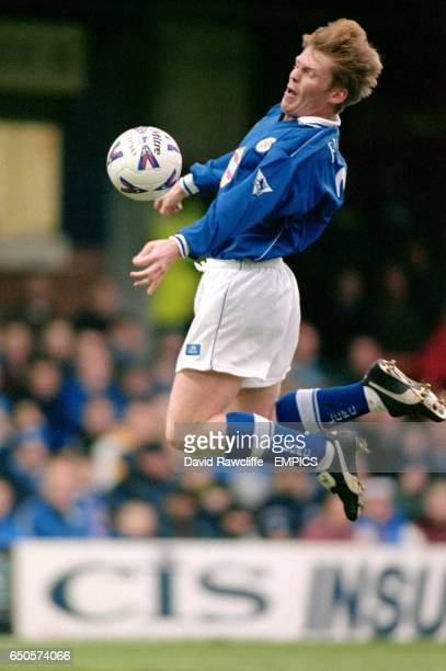 Leicester City's Graham Fenton controls the ball in the air