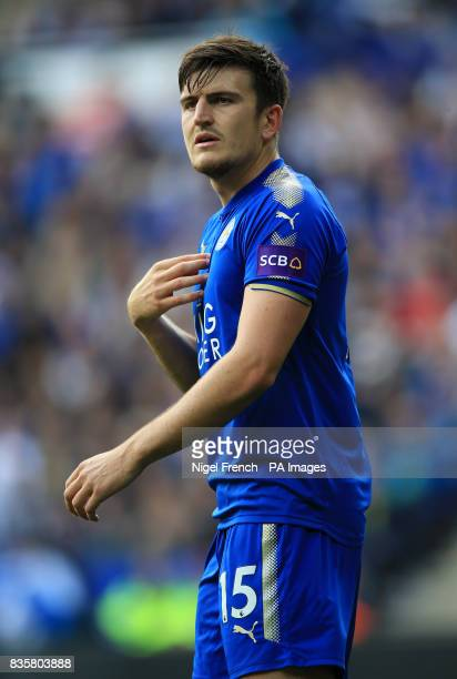 Leicester City's Harry Maguire during the Premier League match at the King Power Stadium Leicester