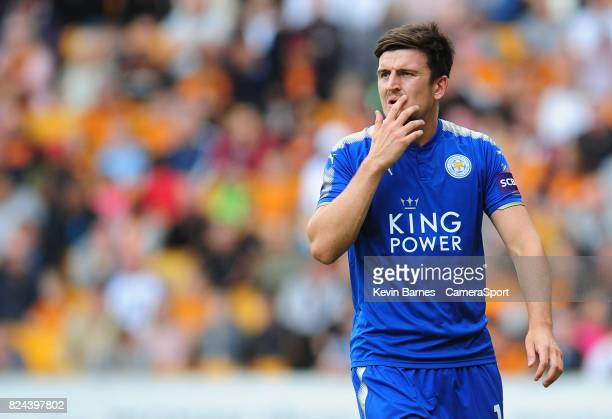 Leicester Citys Harry Maguire during the preseason friendly match between Wolverhampton Wanderers and Leicester City at Molineux on July 29 2017 in...