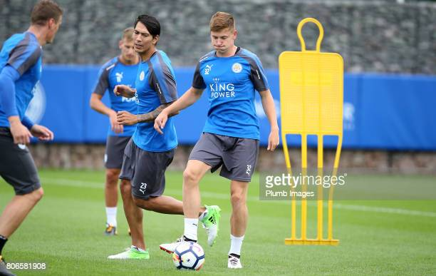 Leicester City's Harvey Barnes as the squad return for preseason training at Belvoir Drive Training Complex on July 03 2017 in Leicester United...