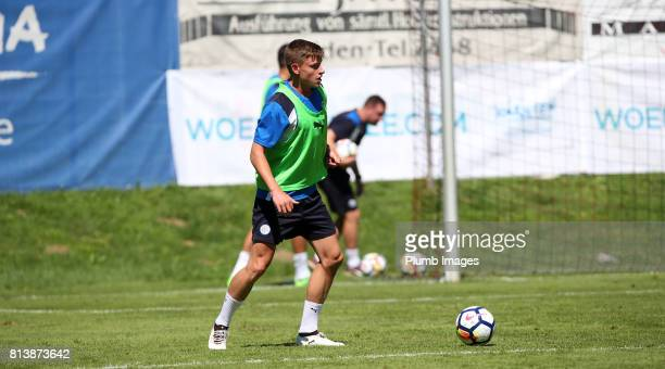 Leicester City's Harvey Barnes during the Leicester City PreSeason tour of Austria at Velden Training Facility on July 13th 2017 in Velden Austria