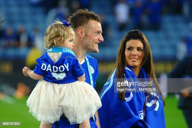 Leicester City's Jamie Vardy and fiancee Rebekah Nicholson