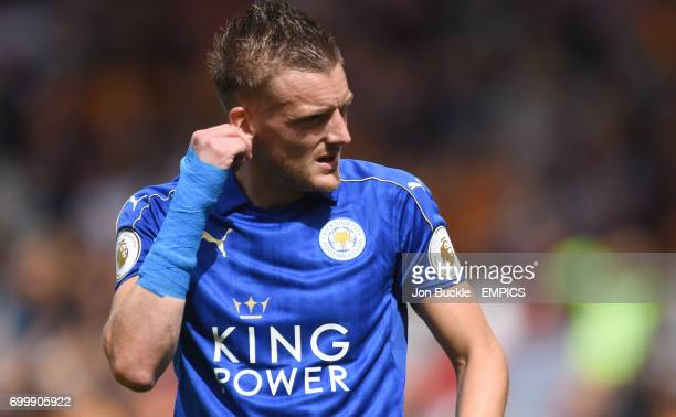Leicester City's Jamie Vardy during the match against Hull City