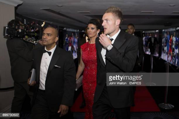 Leicester City's Jamie Vardy during the PFA Awards at the Grosvenor House Hotel London