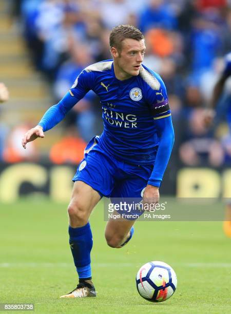 Leicester City's Jamie Vardy during the Premier League match at the King Power Stadium Leicester