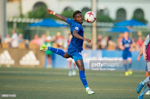 Leicester City's Joshua Gordon runs with the ball against Aston Villa during their Main Tournament Cup Final match part of the HKFC Citi Soccer...