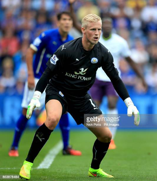 Leicester city's Kasper Schmeichel during the Barclays Premier League match at the King Power Stadium Leicester
