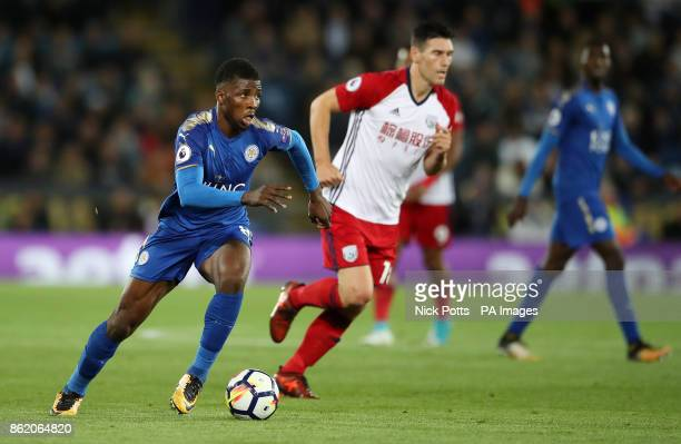 Leicester City's Kelechi Iheanacho breaks during the Premier League match at the King Power Stadium Leicester