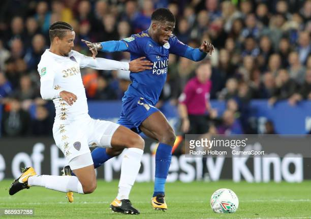 Leicester City's Kelechi Iheanacho during the Carabao Cup Fourth Round match between Leicester City and Leeds United at The King Power Stadium on...