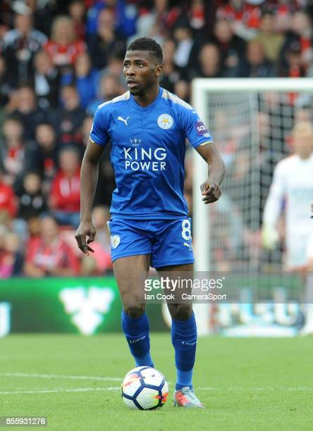 Leicester City's Kelechi Iheanacho during the Premier League match between AFC Bournemouth and Leicester City at Vitality Stadium on September 30...