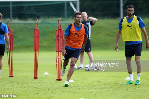 Leicester City's Leo Ulloa during the Leicester City PreSeason tour of Austria at Velden Training Facility on July 11th 2017 in Velden Austria