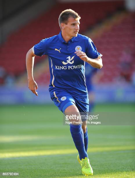 Leicester City's Marc Albrighton during the game against Walsall during the preseason friendly at the Bescot Stadium Walsall