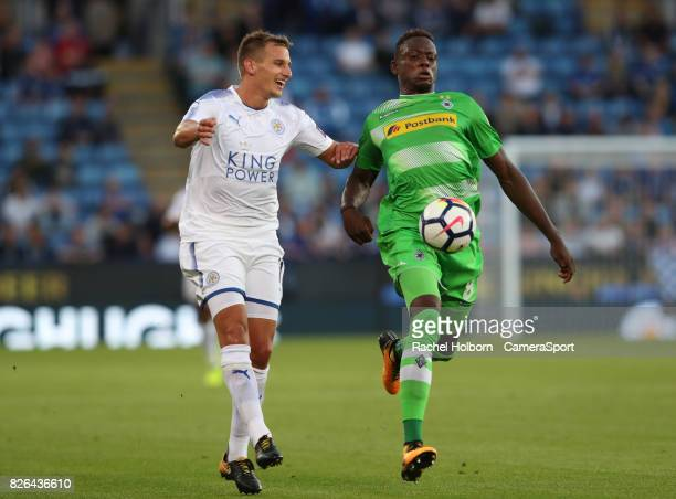 Leicester City's Marc Albrighton during the preseason friendly match between Leicester City and Borussia Moenchengladbach at The King Power Stadium...