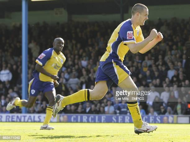 Leicester City's Matty Fryatt celebrates his 1st goal