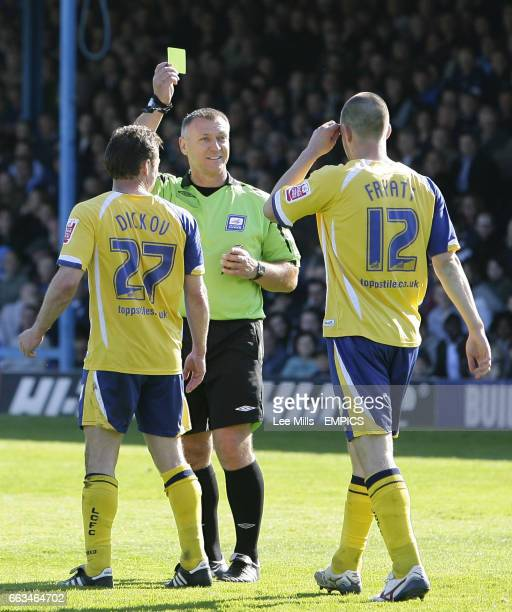 Leicester City's Matty Fryatt gets booked for over celebrating his 1st goal
