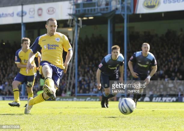 Leicester City's Matty Fryatt scores penalty
