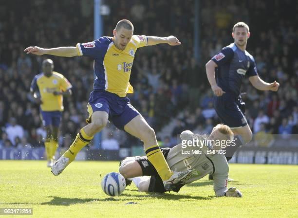 Leicester City's Matty Fryatt with Southend's goalkeeper Steve Mildenhall