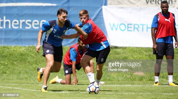 Leicester City's Matty James battles Harvey Barnes during the Leicester City PreSeason tour of Austria at Velden Training Facility on July 13th 2017...