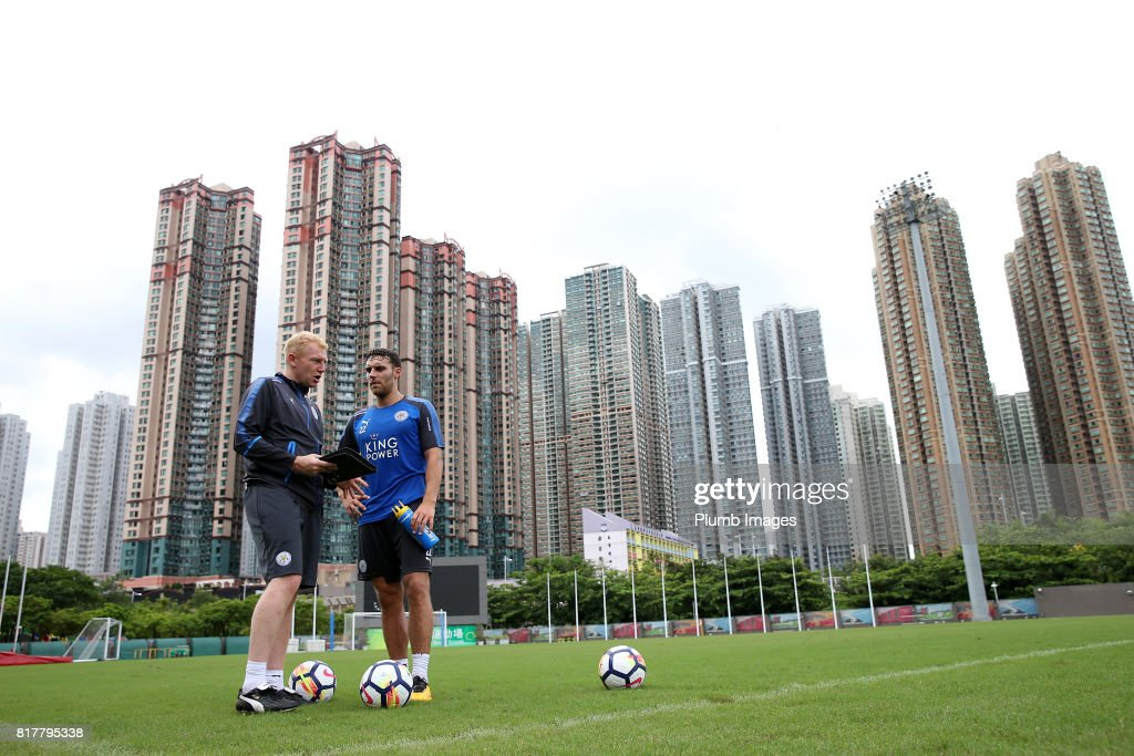 Leicester City's Matty James trains in the Hong Kong heat ahead of the Premier League Asia Trophy on July 18th , 2017 in Hong Kong, Hong Kong.