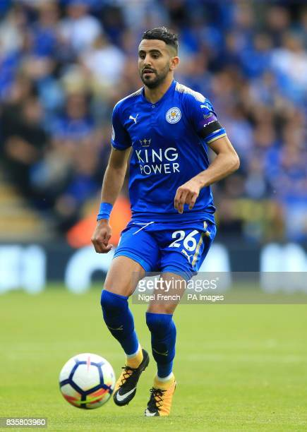 Leicester City's Riyad Mahrez during the Premier League match at the King Power Stadium Leicester