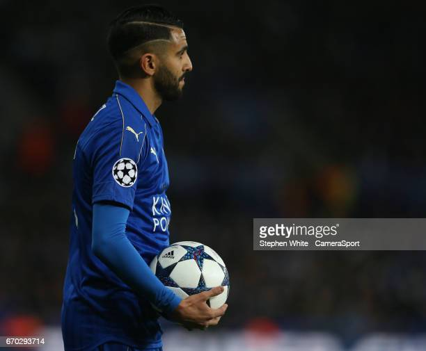 Leicester City's Riyad Mahrez during the UEFA Champions League Quarter Final second leg match between Leicester City and Club Atletico de Madrid at...