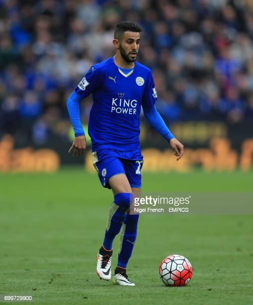 Leicester City's Riyad Mahrez in action against Swansea City