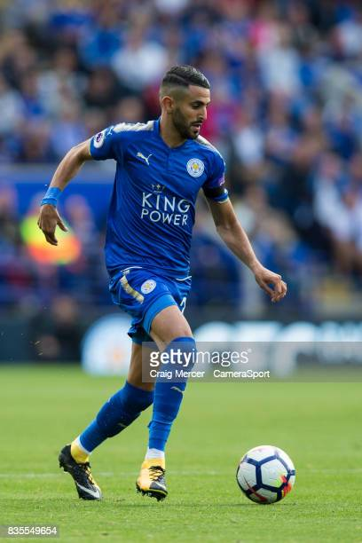 Leicester City's Riyad Mahrez in action during the Premier League match between Leicester City and Brighton and Hove Albion at The King Power Stadium...