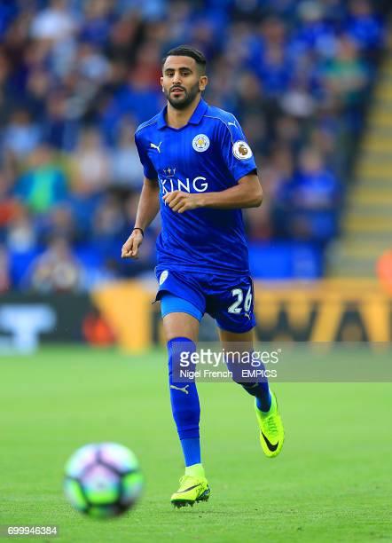 Leicester City's Riyad Mahrez in action
