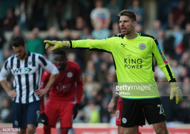 Leicester City's RonRobert Zieler during The Emirates FA Cup Fifth Round match between Millwall against Leicester City at The Den on February 18 2017...