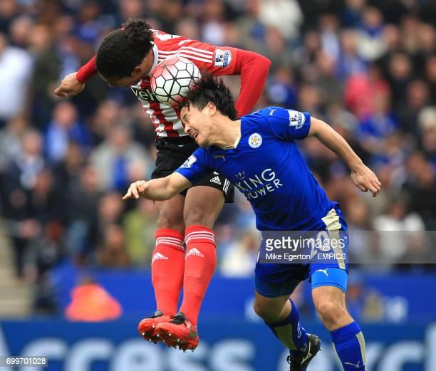 Leicester City's Shinji Okazaki and Southampton's Virgil Van Dijk