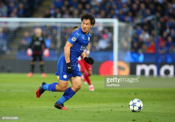 Leicester City's Shinji Okazaki during UEFA Champions League QuarterFinals match between Leicester City and Atletico Madrid at King Power Stadium...