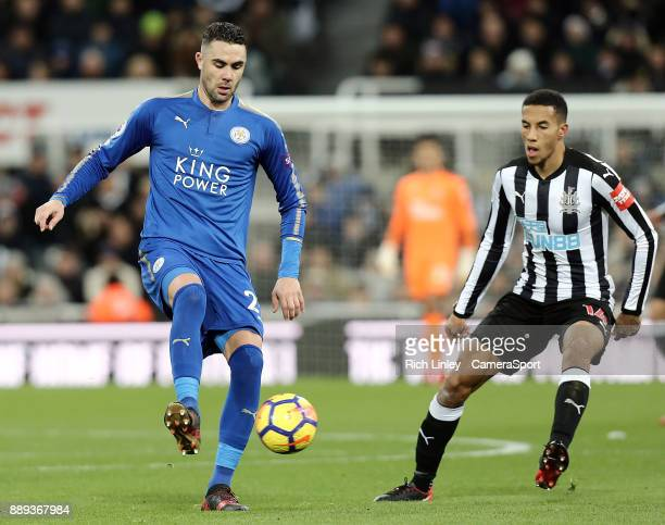 Leicester City's Vicente Iborra during the Premier League match between Newcastle United and Leicester City at St James Park on December 9 2017 in...