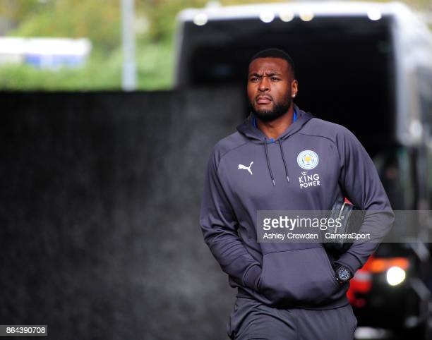Leicester City's Wes Morgan arrives at the liberty stadium during the Premier League match between Swansea City and Leicester City at Liberty Stadium...
