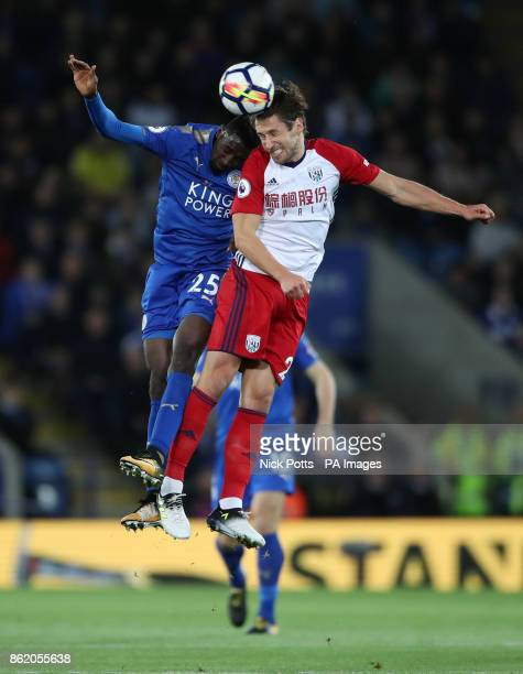 Leicester City's Wilfred Ndidi and West Bromwich Albion's Grzegorz Krychowiak battle for the ball during the Premier League match at the King Power...