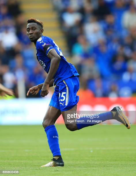 Leicester City's Wilfred Ndidi during the Premier League match at the King Power Stadium Leicester