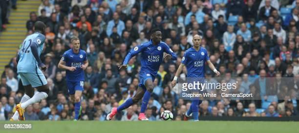 Leicester City's Wilfred Ndidi during the Premier League match between Manchester City and Leicester City at Etihad Stadium on May 13 2017 in...