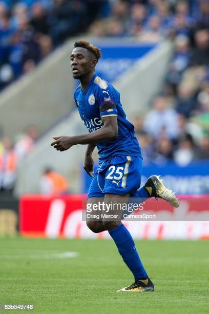 Leicester City's Wilfred Ndidi during the Premier League match between Leicester City and Brighton and Hove Albion at The King Power Stadium on...