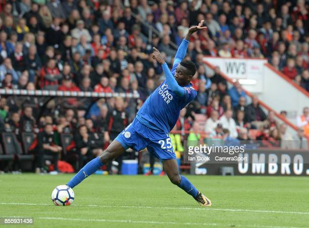 Leicester City's Wilfred Ndidi during the Premier League match between AFC Bournemouth and Leicester City at Vitality Stadium on September 30 2017 in...